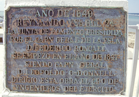 Plaque Cayo Sabinal Fort